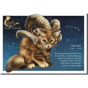 Carte postale Chat Bélier de Séverine Pineaux – Chats du Zodiaque