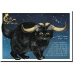 Carte postale Chat Taureau de Séverine Pineaux – Chats du Zodiaque
