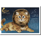 Carte postale Chat Lion de Séverine Pineaux – Chats du Zodiaque