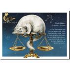 Carte postale Chat Balance de Séverine Pineaux – Chats du Zodiaque