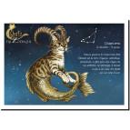 Carte postale Chat Chapricorne de Séverine Pineaux – Chats du Zodiaque