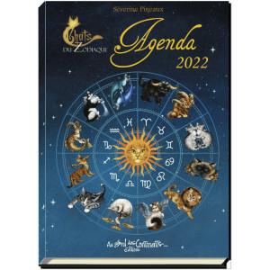 Agenda Chats du Zodiaque 2022 de Séverine Pineaux, éd. Au Bord des Continents...