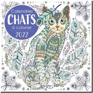 Calendrier Chats à colorier 2022 de Marica Zottino, éditions Rustica