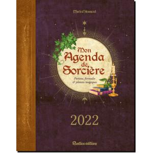 Mon agenda de sorcière 2022 de Marie D'Hennezel, éditions Rustica