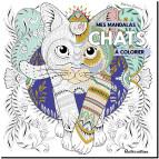 Mes mandalas de chats à colorier de Marica Zottino, livre de coloriages pour adultes aux éditions Rustica