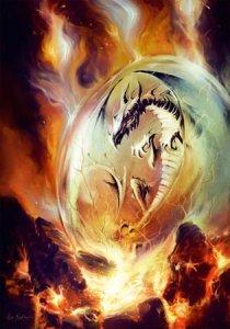 Oeuf de Dragon, carte postale de Elian Black'Mor - Piste des Dragons