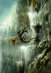 Fjord, carte postale de Elian Black'Mor - Piste des Dragons
