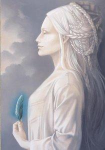 Dame Blanche, carte postale de Sandrine Gestin