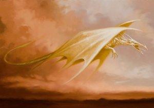 Dragon, carte postale de Sandrine Gestin - Temps des fées