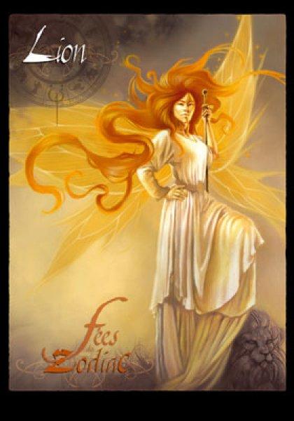 carte postale zodiaque lion