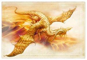 Carte postale Dragon des Sables de Séverine Pineaux