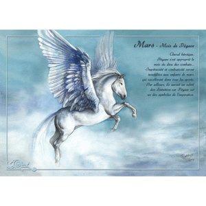 Carte postale Mars - Mois de Pégase de Séverine Pineaux