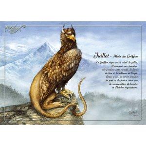 Carte postale Juillet - Mois du Griffon de Séverine Pineaux