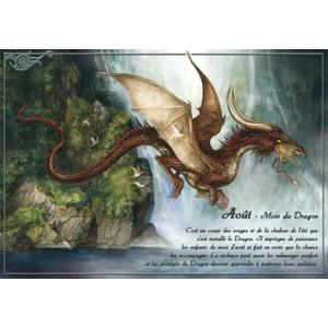 Carte postale Août - Mois du Dragon de Séverine Pineaux