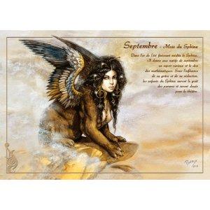 Carte postale Septembre - Mois du Sphinx de Séverine Pineaux