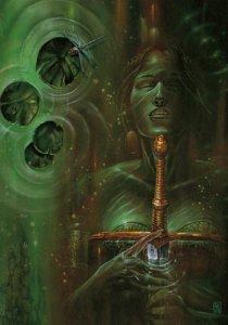 La Dame du Lac, la fée qui offrit Excalibur à Arthur de Didier Graffet