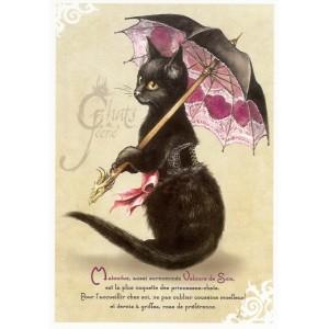 Carte postale Matouvue de Séverine Pineaux - Chats de Féerie