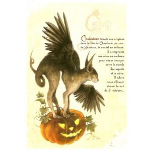 Carte postale Chaloween de Séverine Pineaux - Chats de Féerie