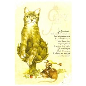 Carte postale Les Artichats de Séverine Pineaux - Chats de Féerie