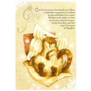 Carte postale Cha-d'zu de Séverine Pineaux - Chats de Féerie