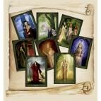 """Lot des 8 Cartes Postales de la collection """"Dames de Brocéliande"""" illustrée par Sandrine Gestin"""
