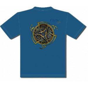 T-Shirt Triskel Bleu de Sandrine Gestin