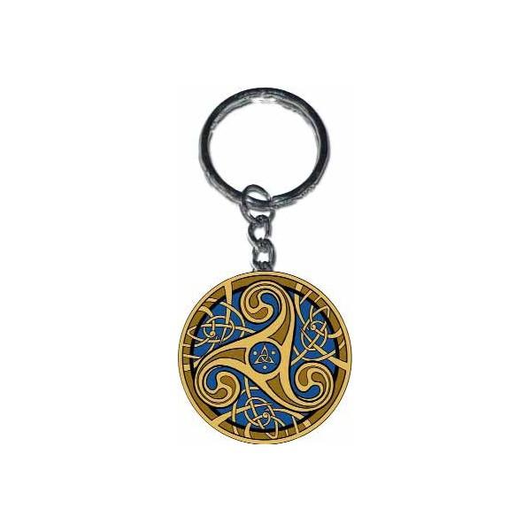 Triskell bleu porte clef de sandrine gestin aux ditions - Porte clef pour ne pas perdre ses clefs ...