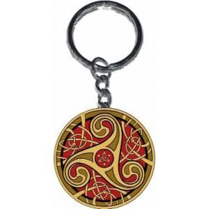 Porte-clef Triskell Rouge de Sandrine Gestin