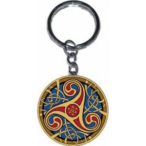 Porte-clef Triskell Rouge et Bleu de Sandrine Gestin