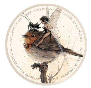 Fée sur le Rouge-gorge de Jean-Baptiste Monge - Fées et Oiseaux
