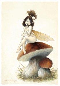 Fée Risette, carte postale de Pascal Moguérou