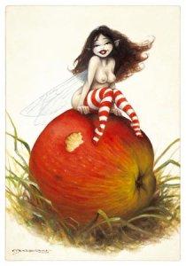 Carte Postale De Pascal Moguérou, P'tite Gourmande