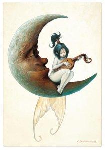 Ode à la Lune, carte postale de Pascal Moguérou