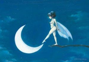 Berce-Lune, carte postale de Pascal Moguérou