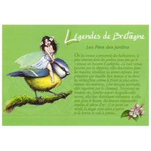 Fée des Jardins, carte postale de Pascal Moguérou - Légendes de Bretagne