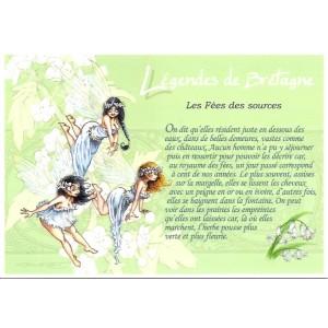 Carte Postale De Pascal Moguérou, Fées des Sources - Légendes de Bretagne