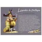 """Carte Postale """"Le gardien de trésor"""" illustré par Pascal Moguérou"""