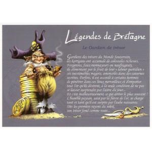 Gardien de Trésor, carte postale de Pascal Moguérou - Légendes de Bretagne
