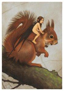 Petite Guetteuse, carte postale de Erlé Ferronnière