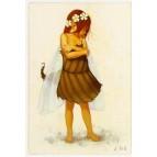 """Carte Postale """"Elfine dans la neige"""" illustrée par Erlé Ferronnière"""