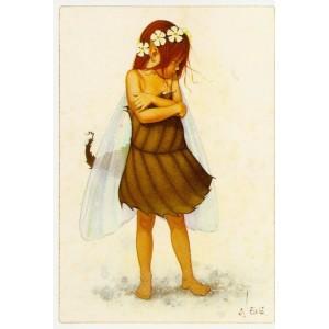 Carte Postale De Erlé Ferronnière, Elfine dans la Neige