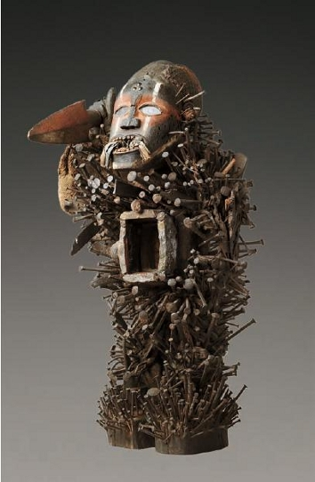 "Statue ""nkisi nkondi"" - Kongo/Vili"