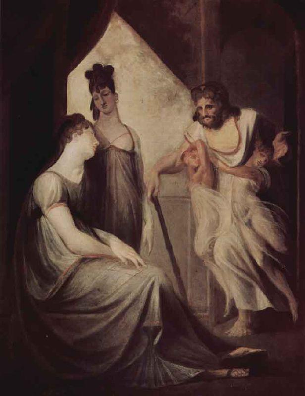 Thétis et Héphaïstos (soutenu par ses automates) de J.H. Füssli