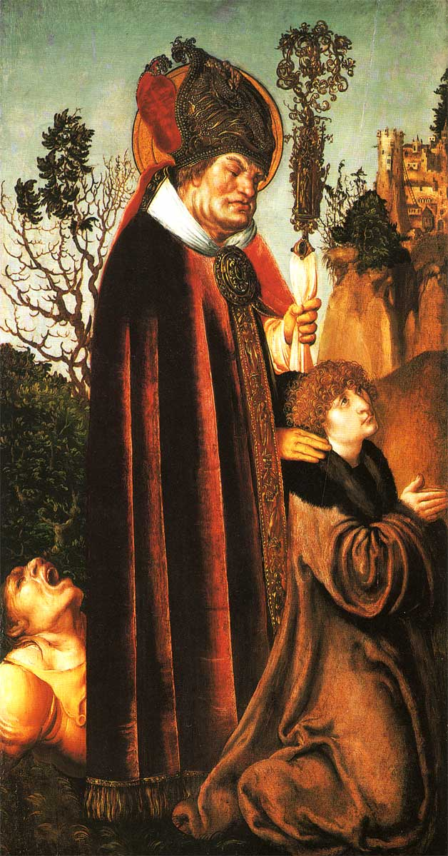 Représentation de <em>Saint Valentin</em> par Lucas Cranach (vers 1502) avec l'aimable autorisation de Torsten Schleese