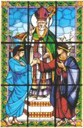 Vitrail de la basilique de Terni (Italie)