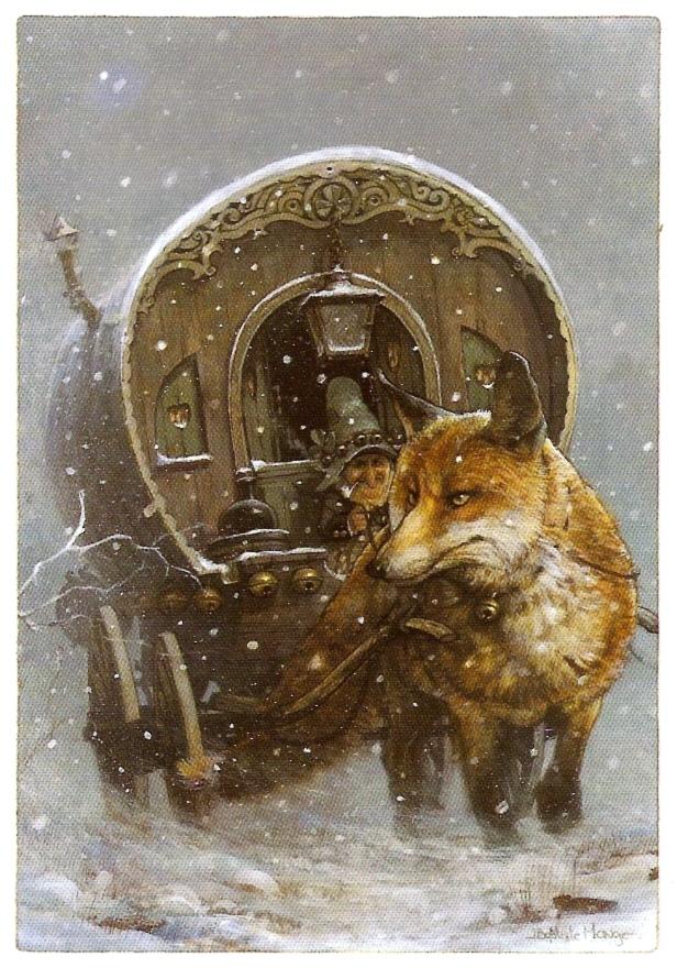 Le lutin et le renard attelé de Jean-Baptiste Monge