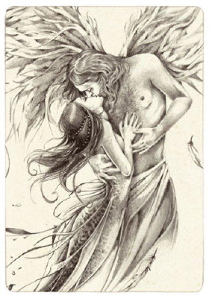 Carte postale de Delphine Gâche : L'Ange. Tiré du livre Les Carnet enchantés de Lily Rose Poddington