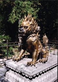 Sculpture d'un Qilin au Beijing Palace Museum