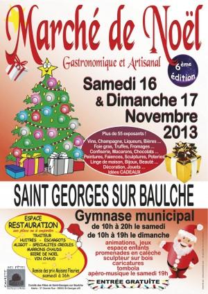 Affiche du marché de Noël de Saint Georges sur Baulche