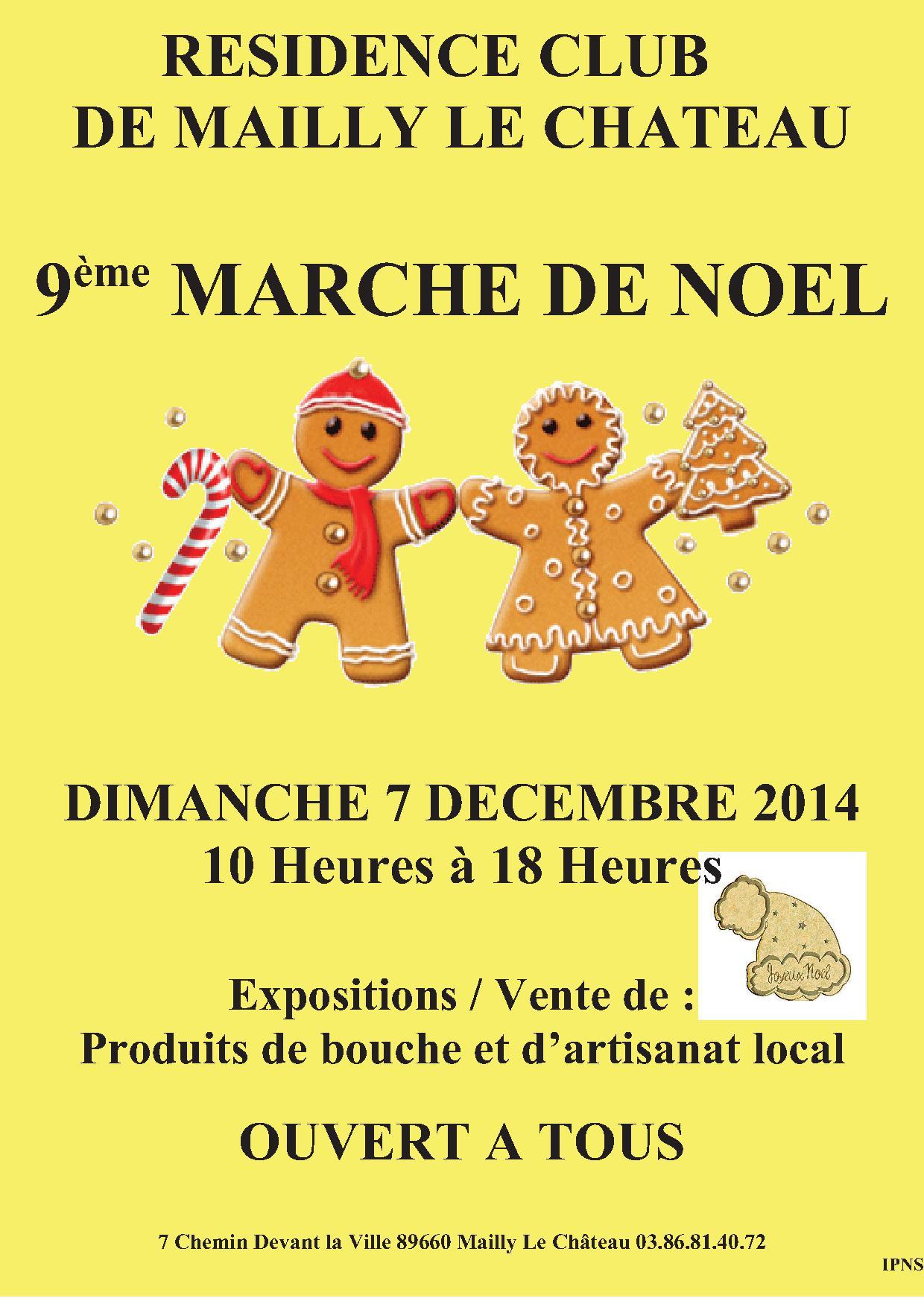 Affiche du marché de Noël de Mailly le Château